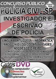 Polícia Civil - SP 2018 - Apostilas Para Investigador  e Escrivão