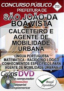 São João da Boa Vista - SP - Apostila para Calceteiro e Agente de Mobilidade Urbana