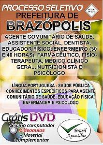 Brazópolis - MG - 2017 - Apostila para Nível Médio e Superior
