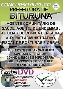 Bituruna - PR - 2017 - Apostilas para Nível Fundamental, Médio, Técnico e Superior