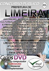 Limeira - SP - 2017 - Apostilas Para Nível Fundamental, Médio e Superior - Edital 05/2017