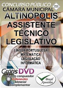 Altinópolis - SP - 2017 - Apostila Para Assistente Técnico Legislativo