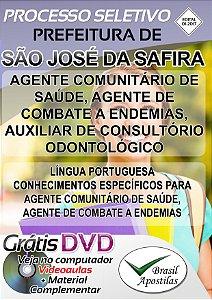 São José Da Safira - MG - 2017 - Apostilas Para Nível Fundamental, Médio, Técnico e Superior