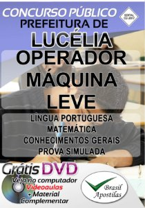 Lucélia - SP - 2017 - Apostilas Para Nível Fundamental, Médio