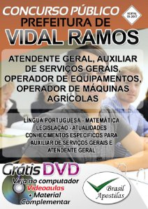 Vidal Ramos - SC - 2017 - Apostilas Para Nível Fundamental