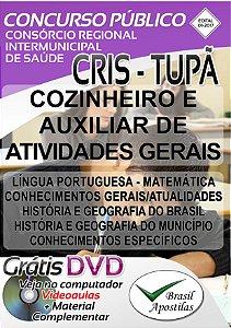 Consórcio Regional Intermunicipal de Saúde - CRIS, Tupã, SP - 2017 - Apostilas Para Nível Fundamental e Médio