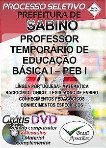 Sabino - SP - 2017 - Apostilas Para Nível Superior