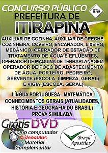 Itirapina - SP - 2017 - Apostilas Para Nível Fundamental, Médio e Superior