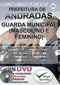 Andradas - MG - 2017 - Apostila Para Guarda Municipal