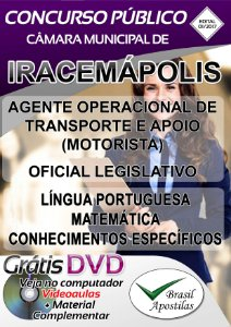 Iracemápolis - SP -2017 - Câmara Municipal - Apostila Para Nível Médio