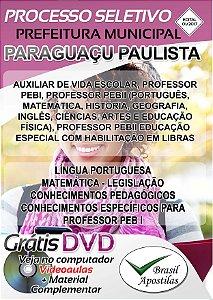 Paraguaçu Paulista - SP - 2017 - Apostila Para Nível Médio e Superior