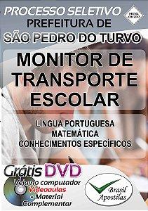 São Pedro do Turvo - SP - 2017 - Apostila Para Monitor de Transporte Escolar