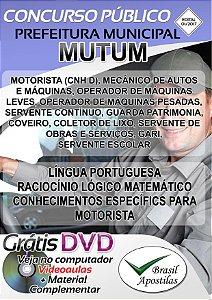 Mutum - MG - 2017/2018 - Apostilas Para Nível Fundamental, Médio, Técnico e Superior
