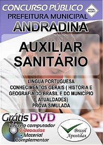 Andradina - SP - 2017/2018 - Apostila Para Auxiliar Sanitário