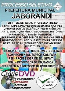 Jaborandi - SP - 2017 - Apostila Para Professor