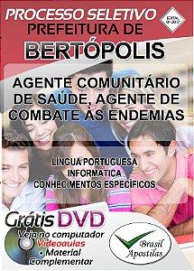 Bertópolis - MG - 2017/2018 - Apostilas Para Nível Fundamental, Médio, Técnico e Superior