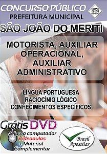 São João do Meriti - RJ - 2017/2018 - Apostila Para Nível Fundamental e Técnico