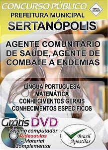 Sertanópolis - Sp - 2017/2018 - Apostila Para Nível Fundamental, Técnico e Superior