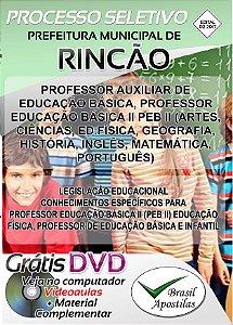 Rincão - SP - 2017/2018 - Apostila Para Professor