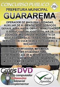 Guararema - SP - 2017/2018 - Apostilas Para Nível Fundamental, Médio, Técnico e Superior