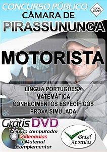 Pirassununga - SP - Câmara Municipal - 2018 - Apostila Para Motorista