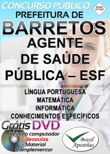 Barretos - SP - 2018 - Apostila Para Agente de Saúde Pública