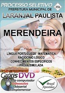 Laranjal Paulista - SP - 2018 - Apostila Para Merendeira