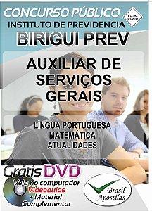 Birigui PREV - 2018 - Apostila Para Auxiliar de Serviços Gerais