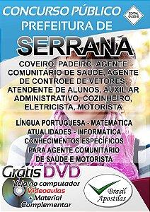 Serrana - SP - 2018 - Apostilas Para Nível Fundamental, Médio e Superior