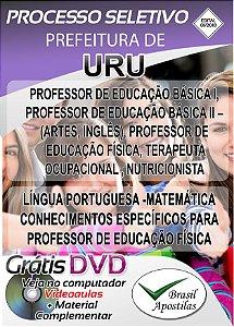Uru - SP - 2018 - Apostila Para Professor
