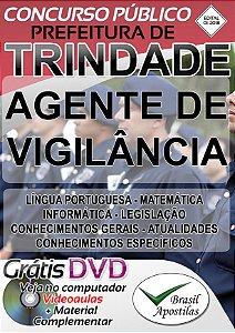 Trindade - GO - 2018 - Apostila Para Agente de Vigilância
