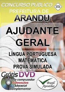 Arandu - SP - 2018 - Apostilas Para Nível Fundamental, Médio, Técnico e Superior