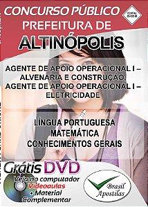Altinópolis - SP - 2018 - Apostilas Para Nível Fundamental e Superior