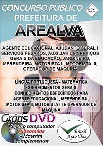 Arealva - SP - 2018 - Apostilas Para Nível Fundamental, Médio e Superior