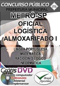 Metrô - SP - 2018 - Apostila Para Oficial Logística Almoxarifado I
