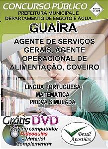 Guaíra - SP - DEAGUA - 2018 - Apostilas Para Nível Fundamental, Médio, Técnico e Superior