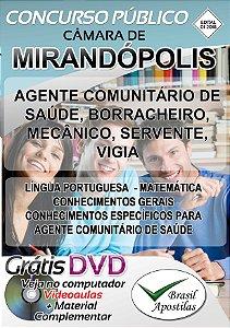 Mirandópolis - SP - 2018 - Câmara - Apostilas Para Nível Fundamental, Médio, Técnico e Superior