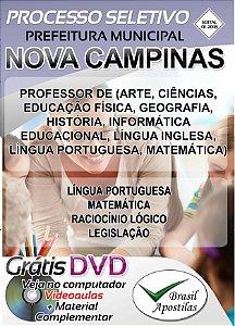 Nova Campinas - SP - 2018 - Apostila Para Professores