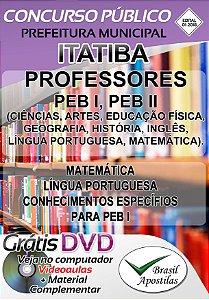 Itatiba - SP - 2018 - Apostila para nível médio e Professores.