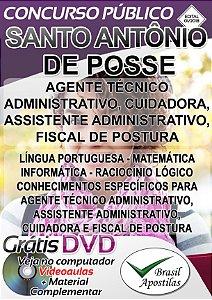 Santo Antônio do Posse - SP - 2018 - Apostilas Para Nível Médio e Superior