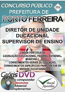 Porto Ferreira - SP - 2018 - Apostila Para Diretor Educacional e Supervisor de Ensino