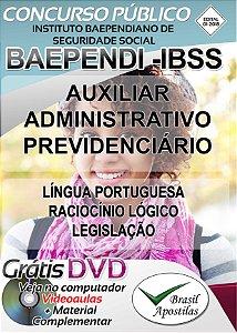 BAEPENDI -IBSS - MG - 2018 - Apostilas Para Auxiliar Administrativo Previdenciário
