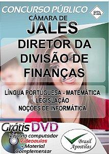 Jales - SP - 2018 - Câmara - Apostila Para Direto da Divisão de Finanças