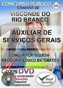 Visconde do Rio Branco - MG - Câmara - 2018 - Apostila Para Auxiliar de Serviços Gerais