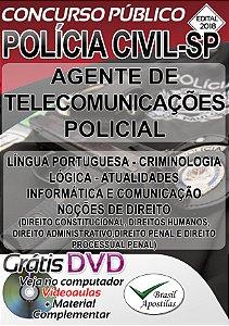 Polícia Civil - SP - 2018 - Apostila Preparatória Para Agente de Telecomunicações Policial