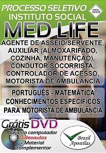Instituto Social Med Life - Bragança Paulista - SP - 2018 - Apostilas Para Nível Fundamental, Médio e Técnico