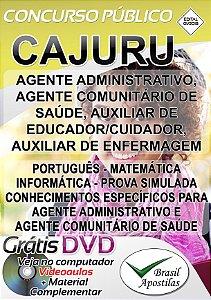 Cajuru - SP - 2018 - Apostilas Para Nível Fundamental, Médio e Técnico