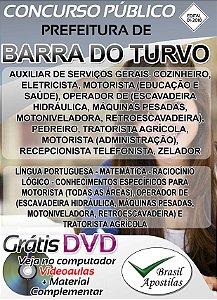 Barra do Turvo - SP - 2018 - Apostilas Para Nível Fundamental, Médio, Técnico e Superior