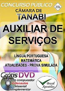 Tanabi - SP - Câmara - 2018 - Apostila Para Auxiliar de Serviços