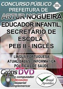 Artur Nogueira - SP - 2018 - Apostila Para Nível Médio e Superior